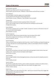 Prayers of Intercession GT2 2012