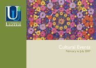 Cultural Events - Cultural Development - University of Ulster