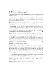 1. Fák és tulajdonságaik