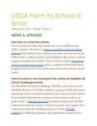 USDA Farm to School E-Letter, February 2013
