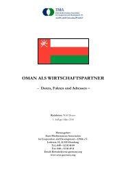 OMAN ALS WIRTSCHAFTSPARTNER 3 - EMA