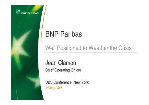 Pre-Tax Income - BNP Paribas