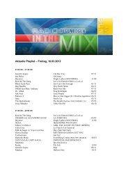 Aktuelle Playlist – Freitag, 16.03.2012 - Radio Regenbogen