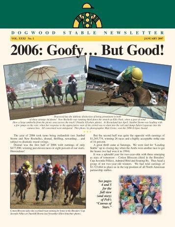 2006: Goofy… But Good! - Dogwood Stable