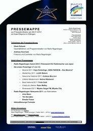 PRESSEMAPPE - Radio Regenbogen