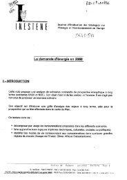 La documentation Française : La demande d'énergie en 2050
