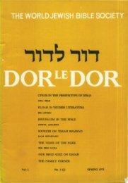 ELUAH IN YIDDISH LITERATURE - Jewish Bible Quarterly