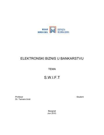 S.W.I.F.T - Seminarski Maturski Diplomski Radovi