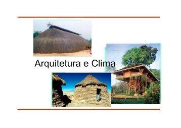 Arquitetura e Clima