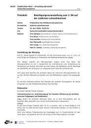 Protokoll Beteiligungsveranstaltung zum 3. BA auf der südlichen ...
