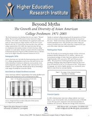 Beyond Myths: The Growth and Diversity of Asian - Higher ...