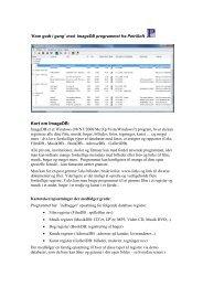 Download Kom godt i gang med ImageDB - PetriSoft