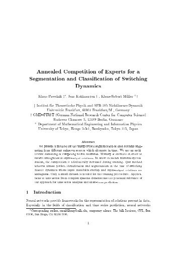 Annealed Competition of Experts for a Segmentation and ...