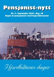 I fjordbåtenes dager - Pensjonist-nytt