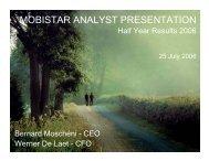 Analyst Presentation - Results 1H06 - 25 07 2006 - Mobistar