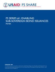 Enabling Sub-Sovereign Bond Issuances - Economic Growth - usaid