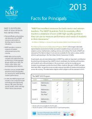 Facts for Principals – NAEP 2013 - Delaware Department of Education