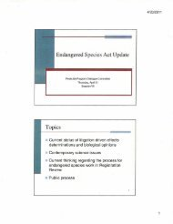 Endangered Species Act Update Topics - The Center for Regulatory ...