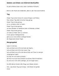 Gebete und Zitate von Dietrich Bonhoeffer Tag Morgengebet