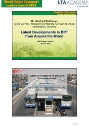 Latest Developments in BRT from Around the World - LTA Academy