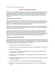 Guide for Setting Ground Rules - CADA