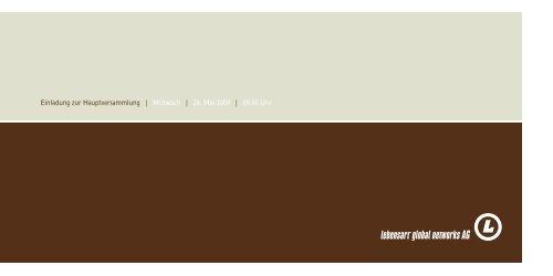 Einladung zur Hauptversammlung | Mittwoch | 26 ... - Design Hotels