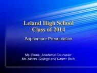 Sophomore Presentation Part I
