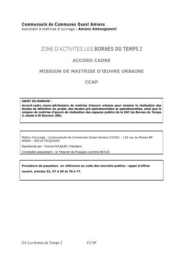 CCAP - Amiens aménagement