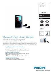 SA3025/02 Philips Flash audio- és videolejátszó