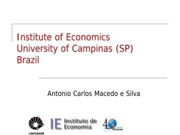 Institute of Economics University of Campinas - DAAD partnership ...
