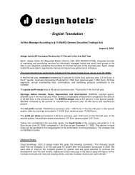 English Translation - Design Hotels