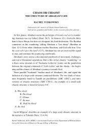 CHAOS OR CHIASM? - Jewish Bible Quarterly