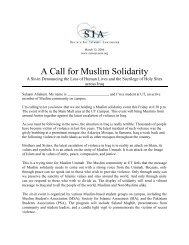 A Call for Muslim Solidarity