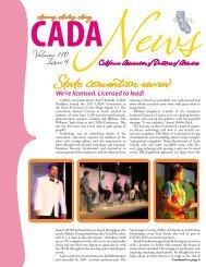Volume 110, Issue 4 - CADA