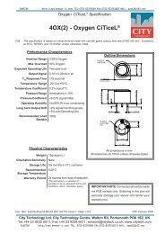 4OX(2) - Oxygen CiTiceL® - Sensor-ic.com