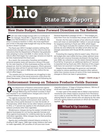 Summer 2009 - Ohio Department of Taxation - State of Ohio