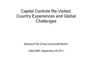 Capital controls re-visited - DAAD partnership on economic ...
