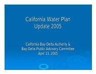 California Water Plan Update 2005 - CALFED Bay-Delta Program
