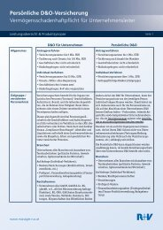 Persönliche D&O-Versicherung - R+V Versicherung
