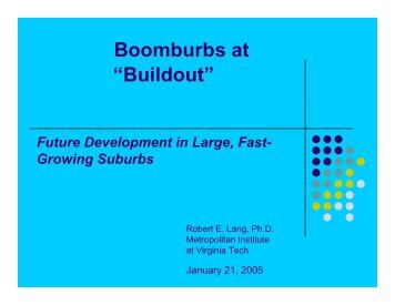 """Boomburbs at """"Buildout"""""""
