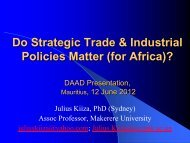 Do Strategic Trade & Industrial Policies Matter - DAAD partnership ...