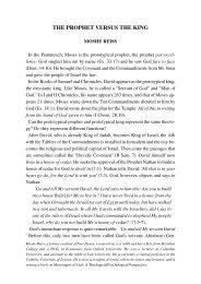 THE PROPHET VERSUS THE KING - Jewish Bible Quarterly