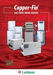 Copper-Fin - Gas-Fired Water Heaters - CMS