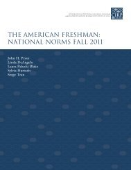 The American Freshman: National Norms Fall 2011 - Higher ...