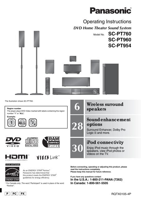 SC-PT760-960P-PC_RQTX0105-P_eng (PX).book - Operating ...