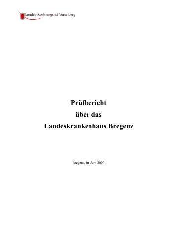 Prüfbericht über das Landeskrankenhaus Bregenz