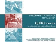 QUITO, EQUATEUR : La priseen compte des circulations douces - CMI