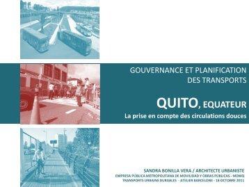QUITO, EQUATEUR : La priseen compte des circulations douces - CMI