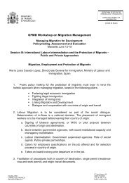 Migration, Employment and Protection of Migrants - Global Forum on ...