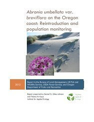 Abronia umbellata var. breviflora on the Oregon coast - USDA Forest ...